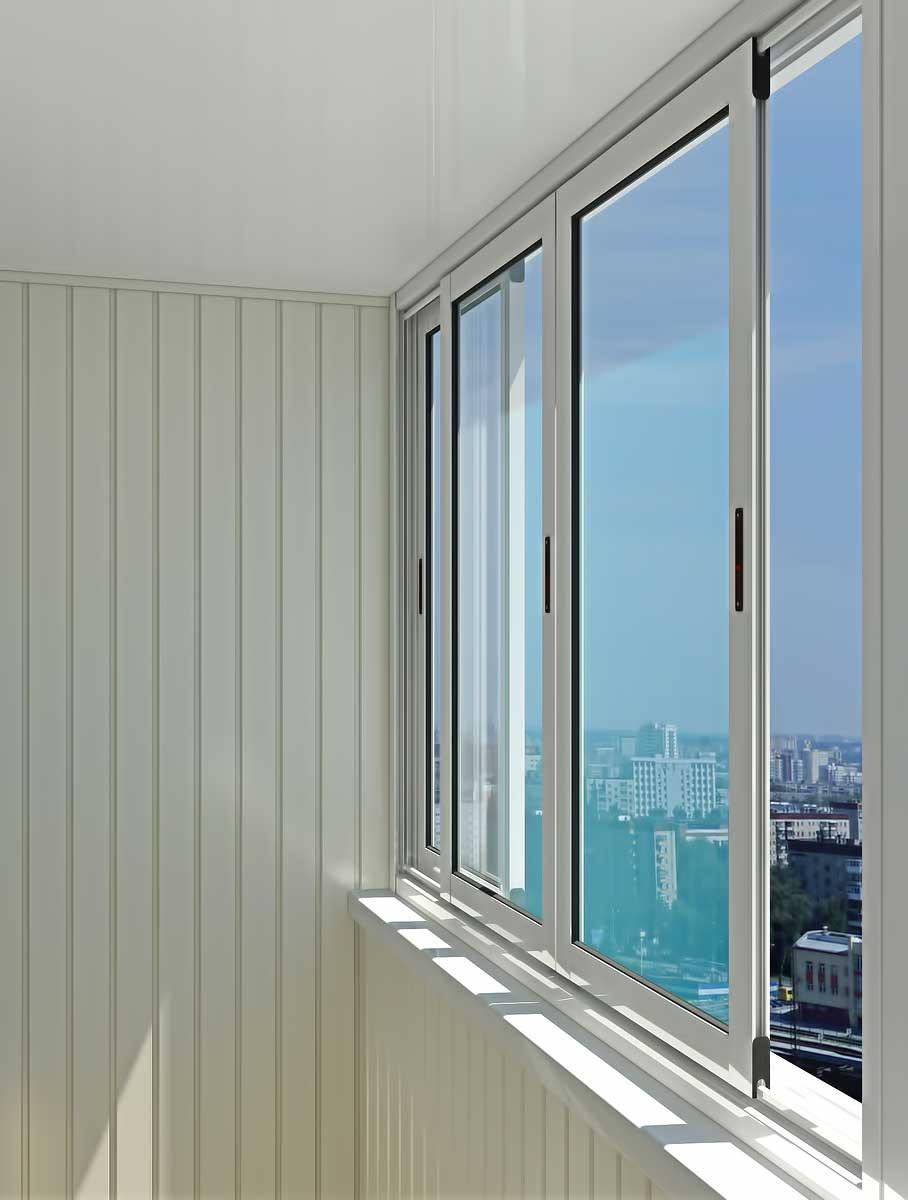 Остекление балконов алюминиевым профилем, алюминиевые балкон.