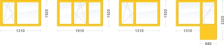 Остекление трехкомнатной квартиры в доме серии II-49, Эконом