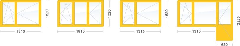 Остекление трехкомнатной квартиры в доме серии II-49, Стандарт