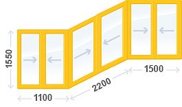 Остекление лоджии, панельный дом cерия П-3